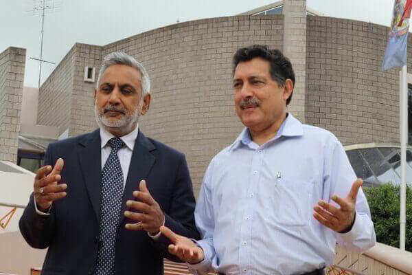 Mr Abbas Alvi (left) with Mr Athar Zaidi