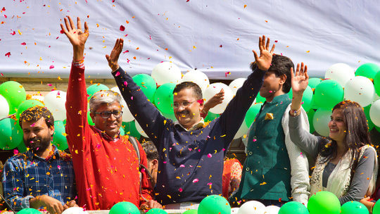 Delhi elections: AAP Tsunami wipes out Modi Wave