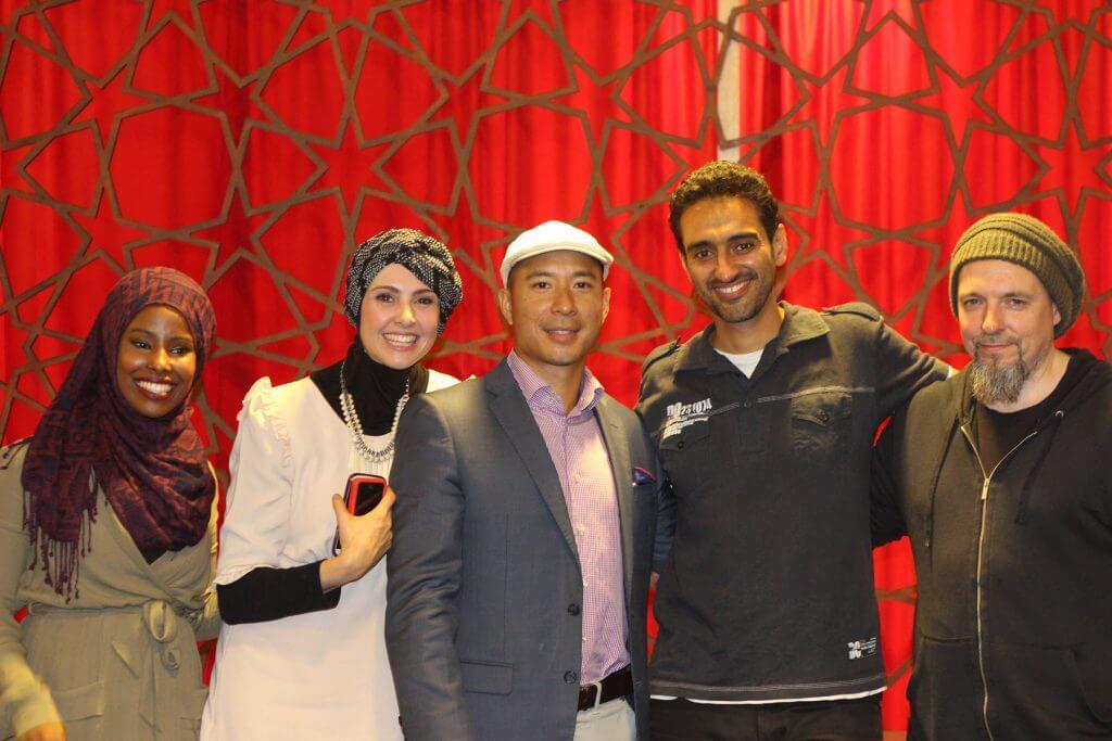 From left: Nadal Ali, Anisa Buckley, Imran Lum, Waleed Aly, Zak Wilson