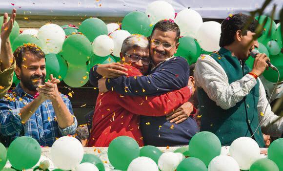 AAP victory at Delhi elections