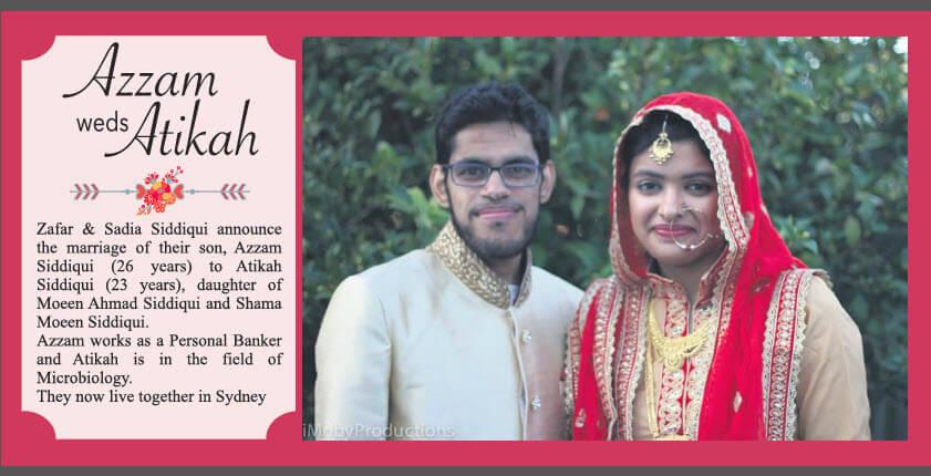 Azzam weds Atikah
