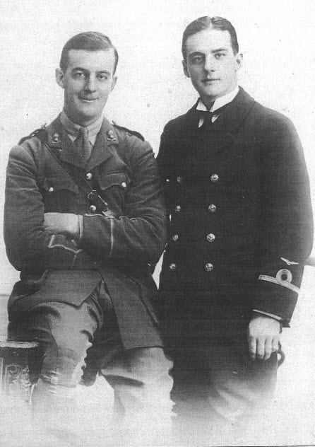 Keith and Colin Munro, the author's great-uncles, killed in World War I.