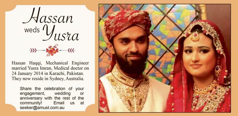 Hassan weds Yusra