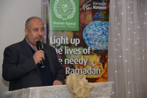 Mr Bashar Al-Jamal speaking at 18th Annual Fundraising Iftar for HAI.