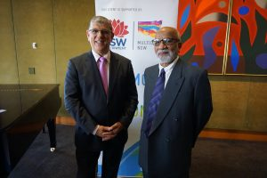 The Hon John Ajaka MP and Prof Jamil Farooqui