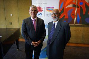 The Hon John Ajaka MP and Prof Jamil Farooqui