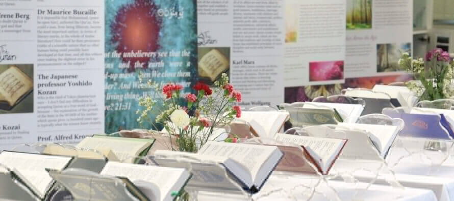 Quran exhibit at Flinders Uni