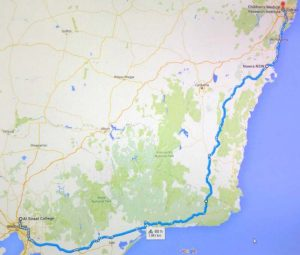 Melbourne to Sydney equivalent cycling challenge