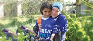 The Great Cycle Challenge: Tanya Kubitza with her daughter Mariam.