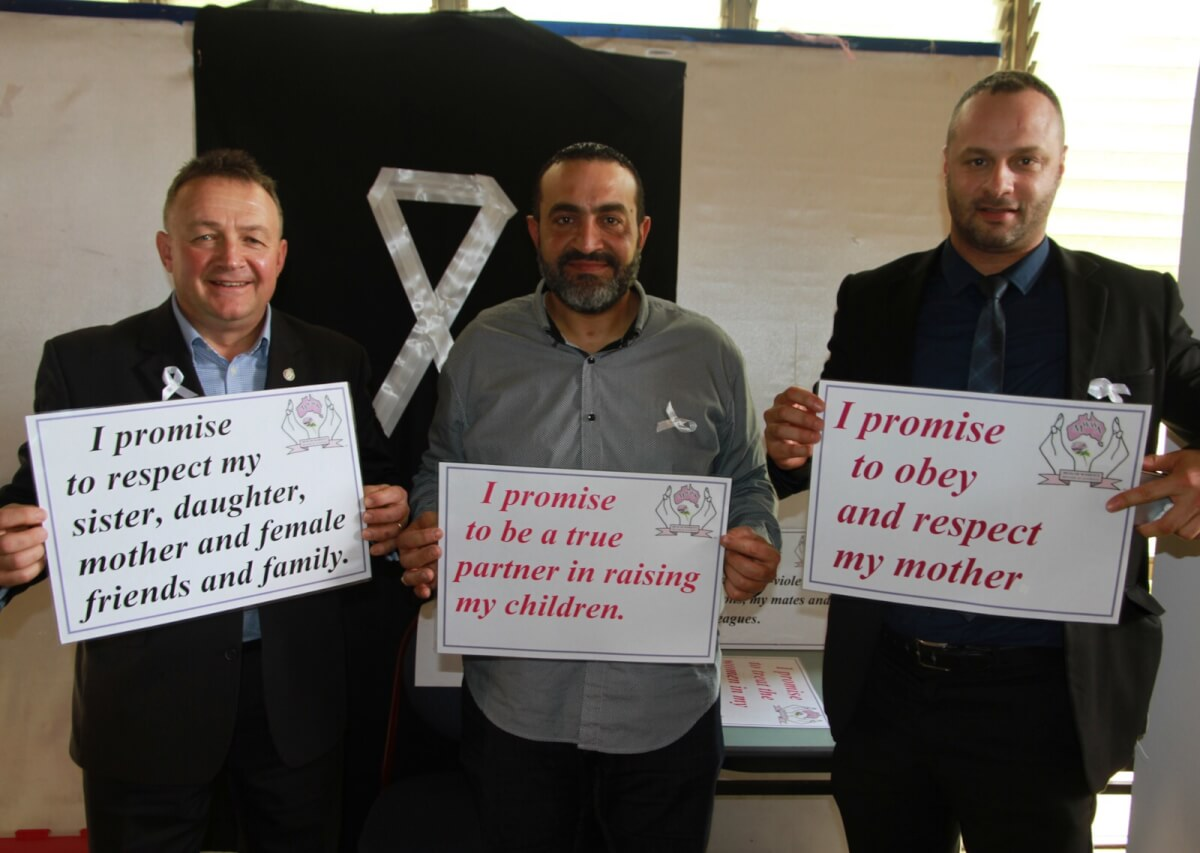 Draw the Line on White Ribbon Day