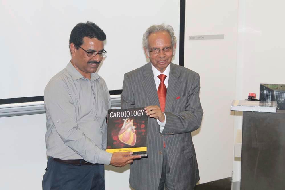 Dr Fasih Khan with Prof Khalilullah.