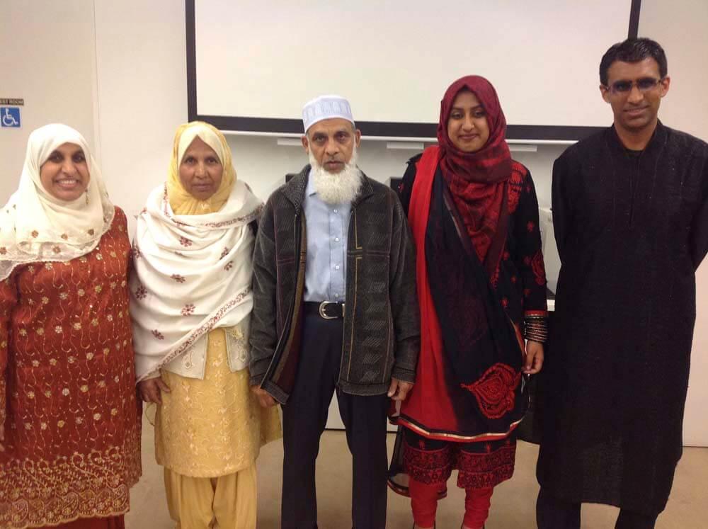 From left: Anjum, Qamar, Dr Anisur Rahman, Nekhat and Nadeem.