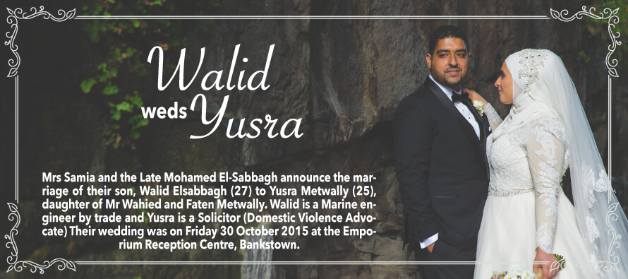 Walid Weds Yusra