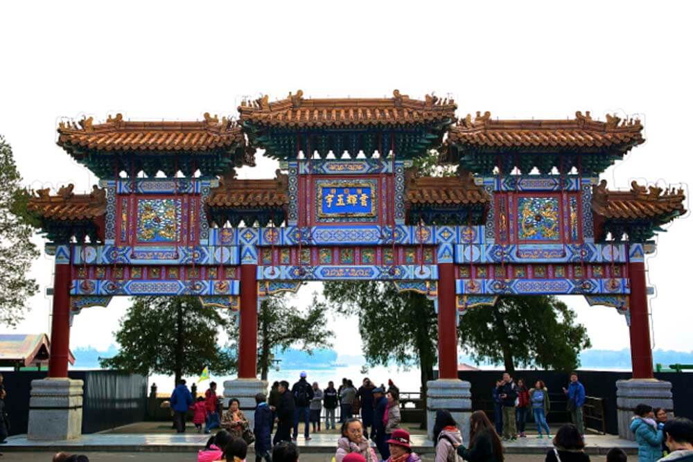 Chinese Gate at the Summer Palace in Beijing.