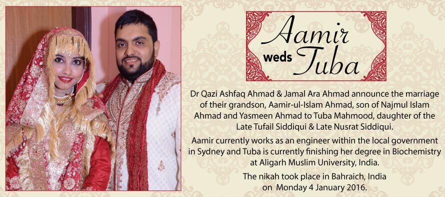 Aamir weds Tuba