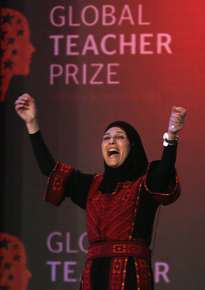 Palestinian teacher Hanan al-Hroub wins $1 million Global Teacher Prize