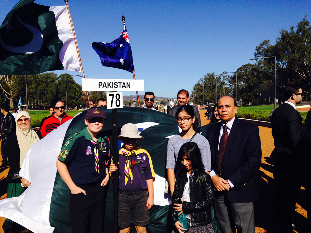 Pakistani community joins ANZAC ceremonies