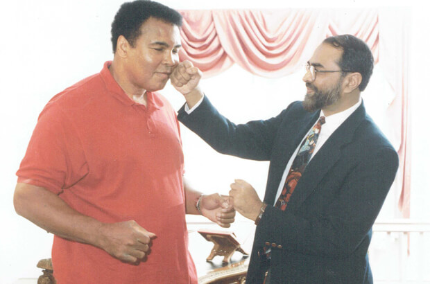 Muhammad Ali with Imam Abdul Malik Mujahid