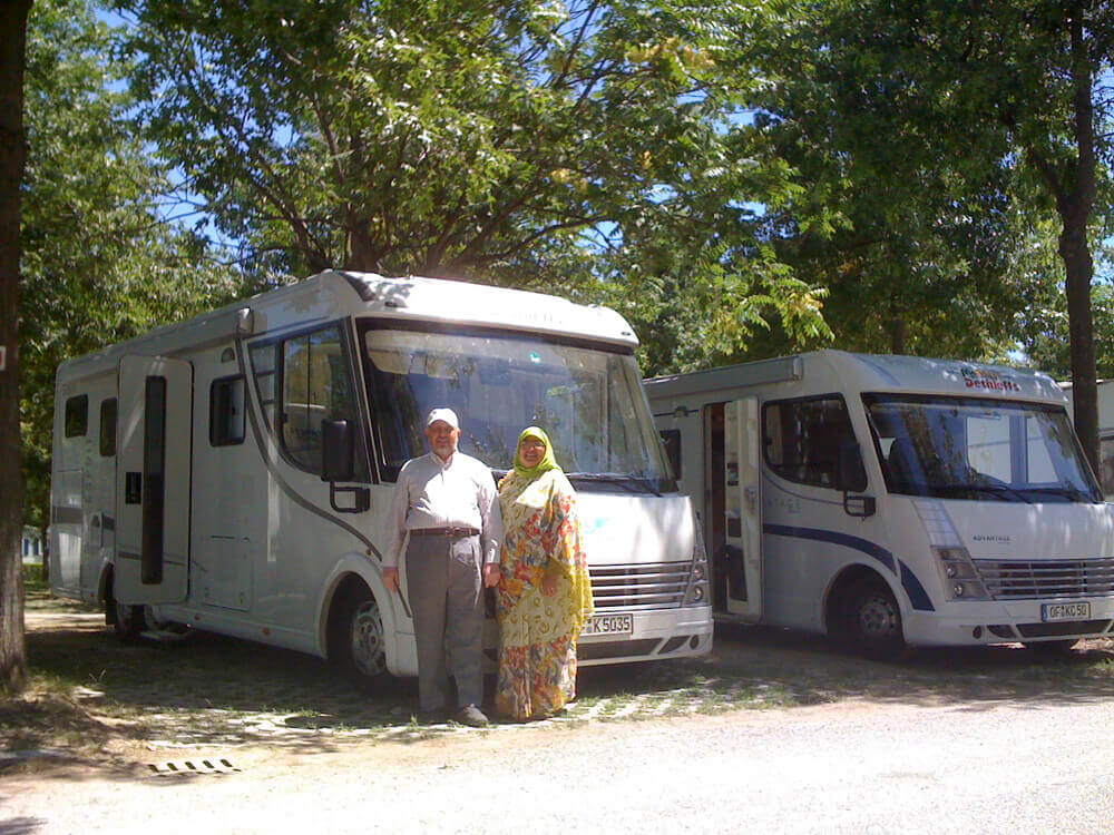 Driving two 6-bed motorhomes in Europe and UK, 2009.