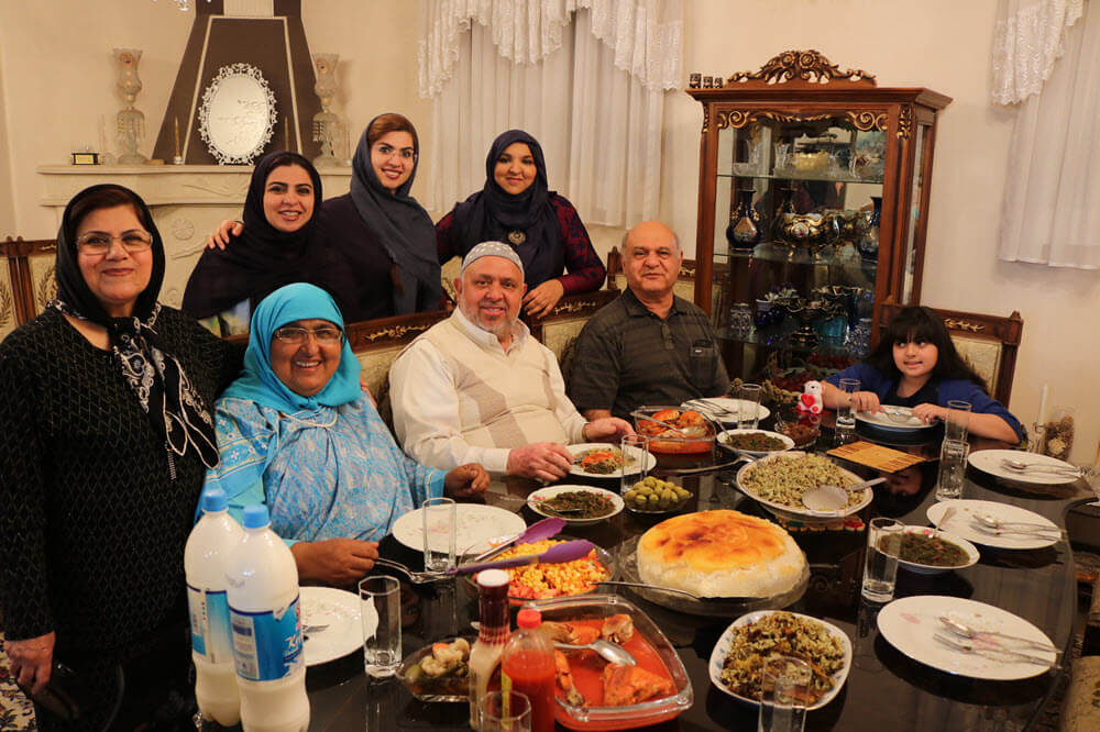 Dinner with Mohammad's family in Shiraz.