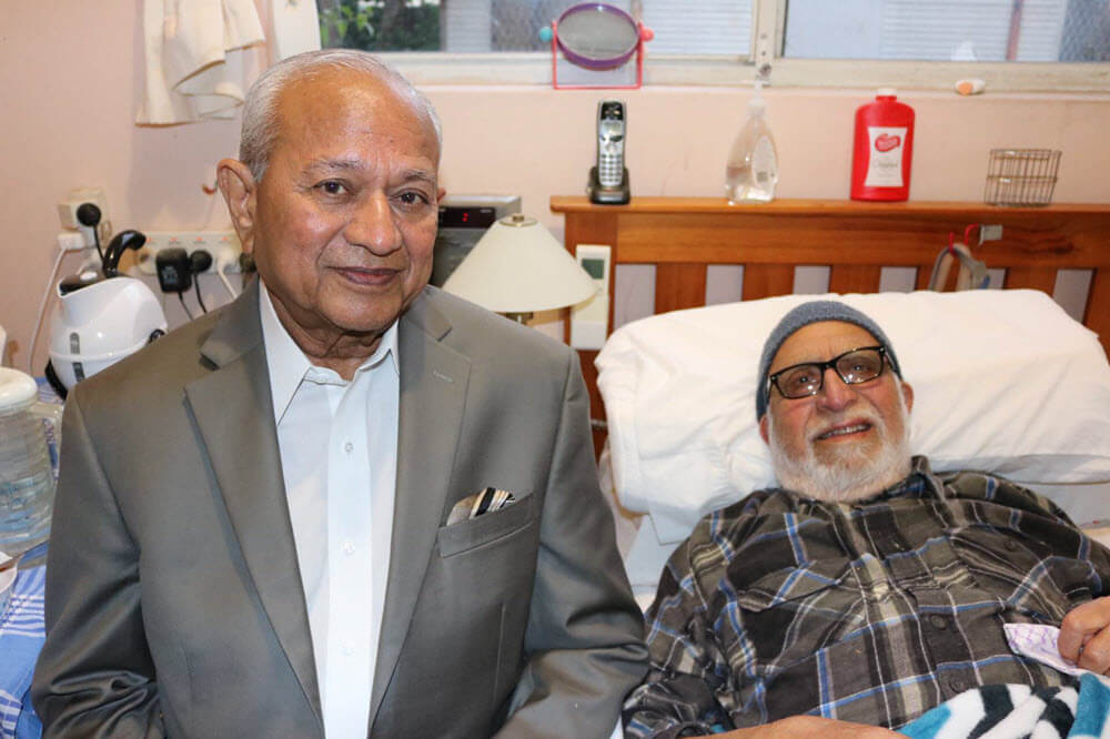 Dr Nakadar with Dr Qazi Ashfaq Ahmad.