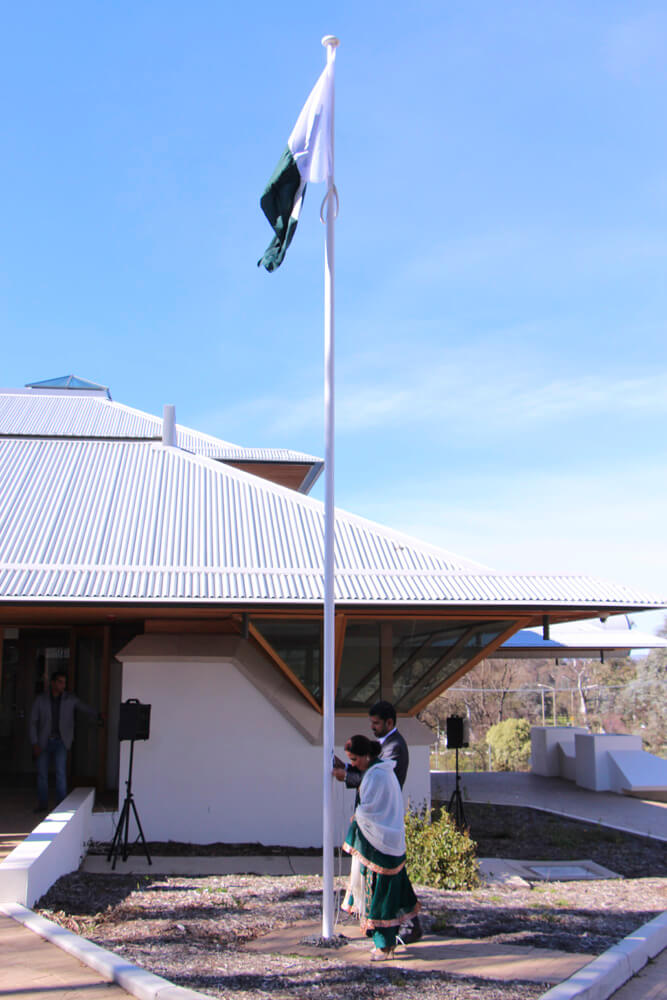 Flag hoisting by Pakistani High Commissioner.