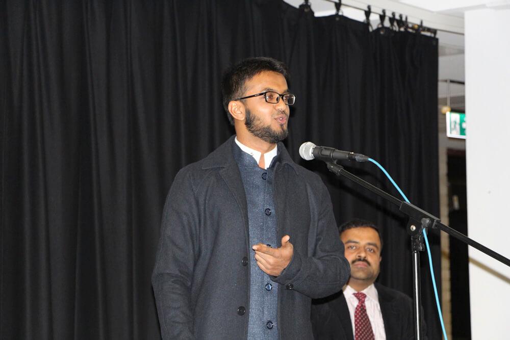Speaker Rizwan Ahmed.