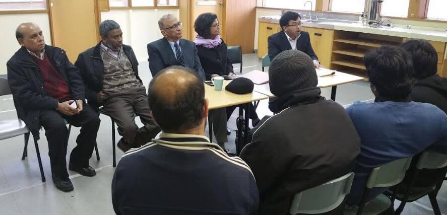 "The ISC Board (L to R)"" Mohammed Ali, Mohammed Abu Saleh, Suhail Khan, Azra Khan (Chair) and Saifullah Dewan"