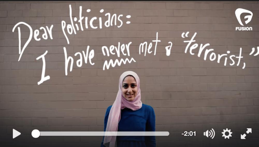 Dear Politicians: I have never met a 'terrorist'