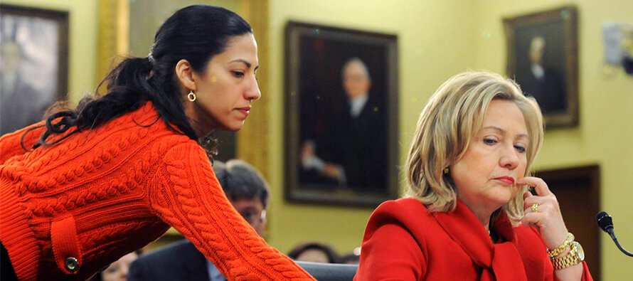 Huma Abedin in the middle of the storm