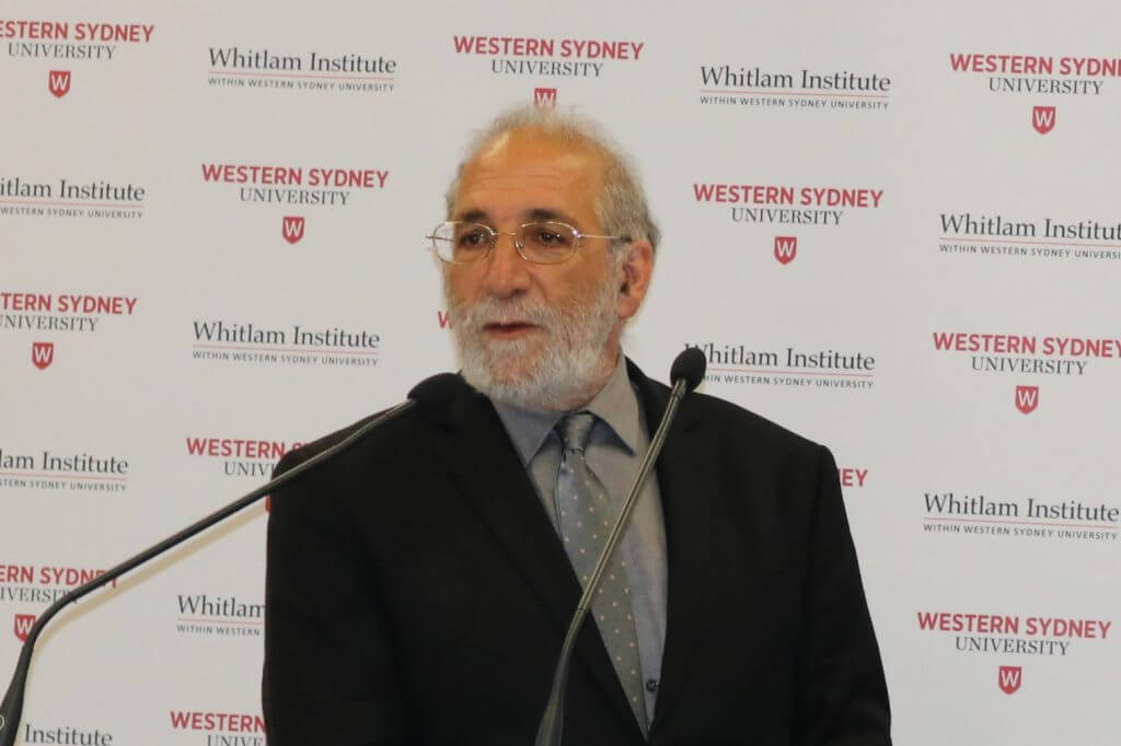 Mr Eric Sidoti, Director of the Whitlam Institute, Western Sydney Uni.