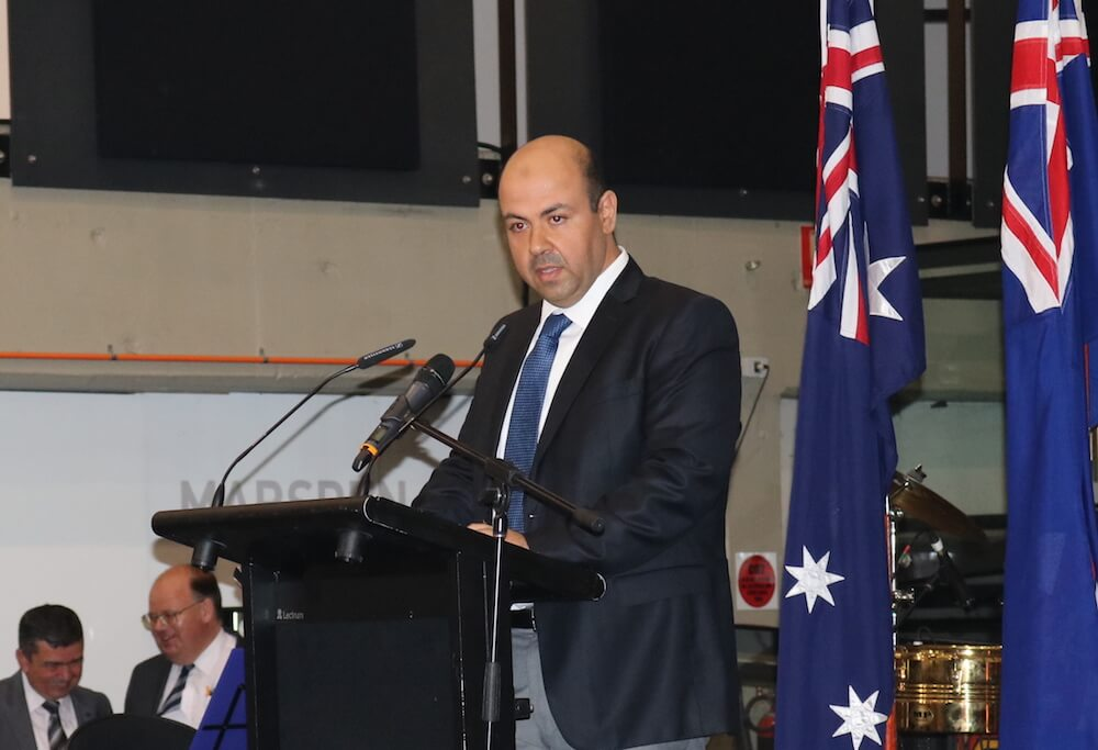 Ahmet Yamakoglu at the Australia Day Community Reception 2017.