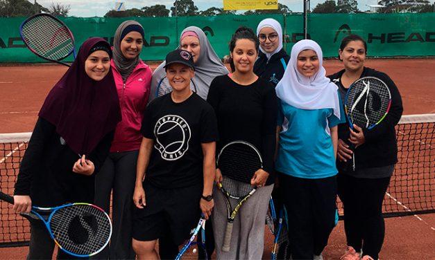 Free serve of tennis to Muslim women and girls
