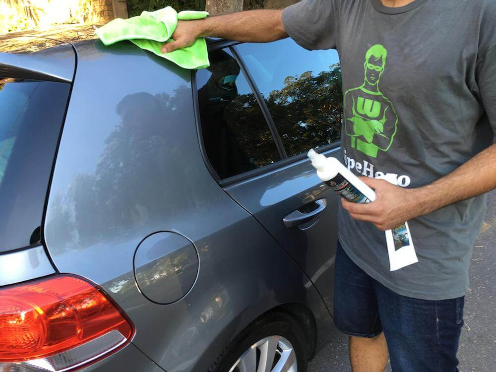WipeHero: Innovative Waterless car cleaning