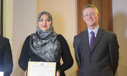 Mobinah appointed Ambassador for Peace