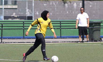 Assmaah kicking goals for social equality