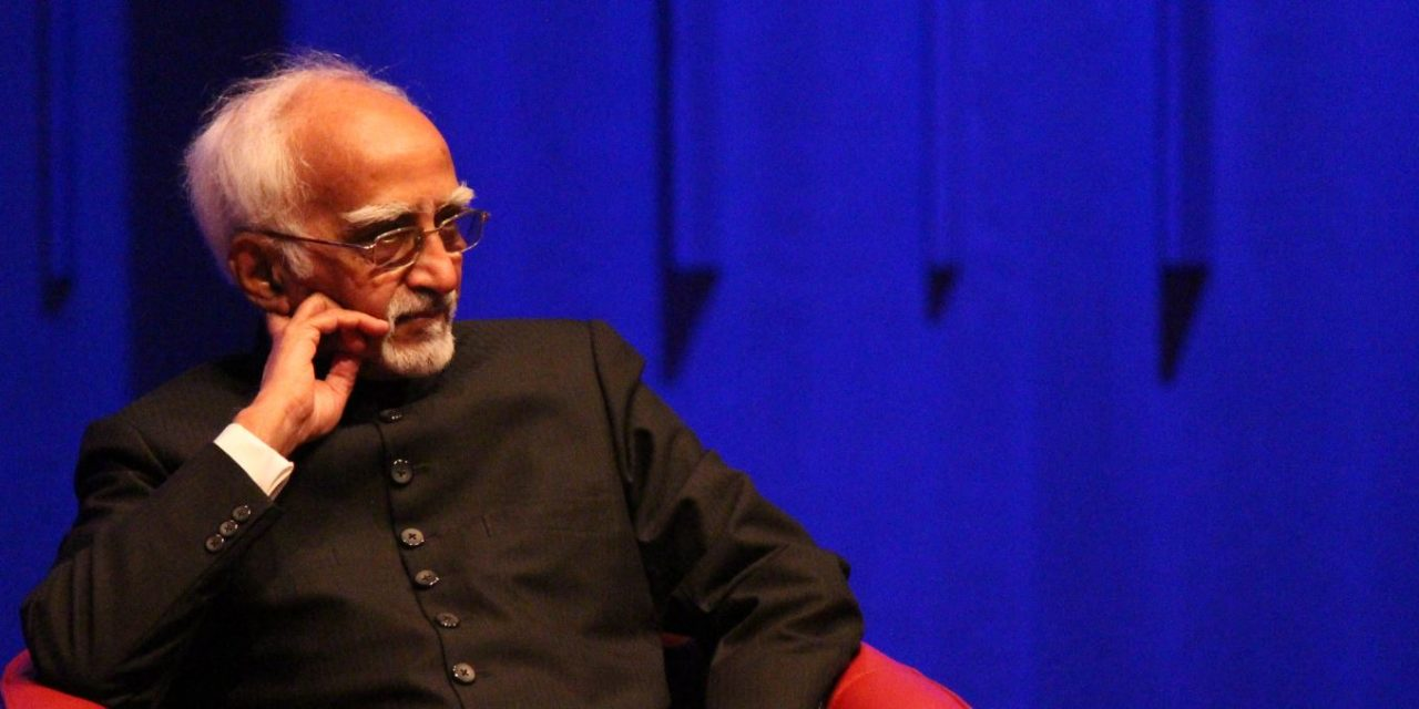 "Hamid Ansari ""Indian experience of diversity a lesson for all"""