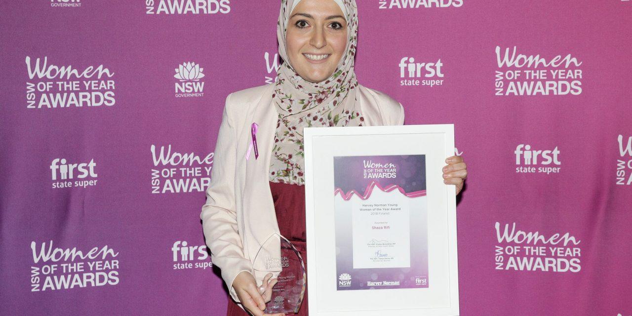 Shaza wins NSW Harvey Norman Award