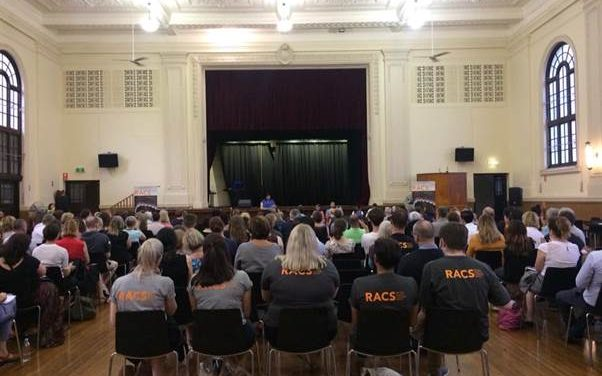 Advocacy for legal support for refugees: RACS
