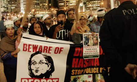 """Beware of Despot"" Sydney protests against Sheikh Hasina"
