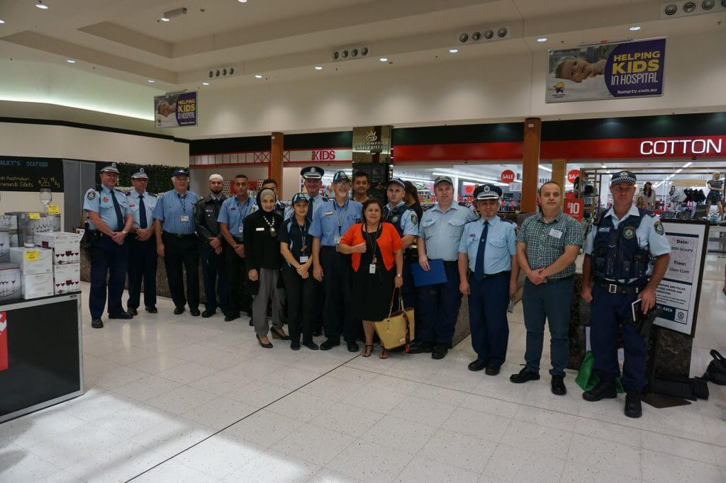 Police and community at the Coffee with a Cop event at Wetherill Park