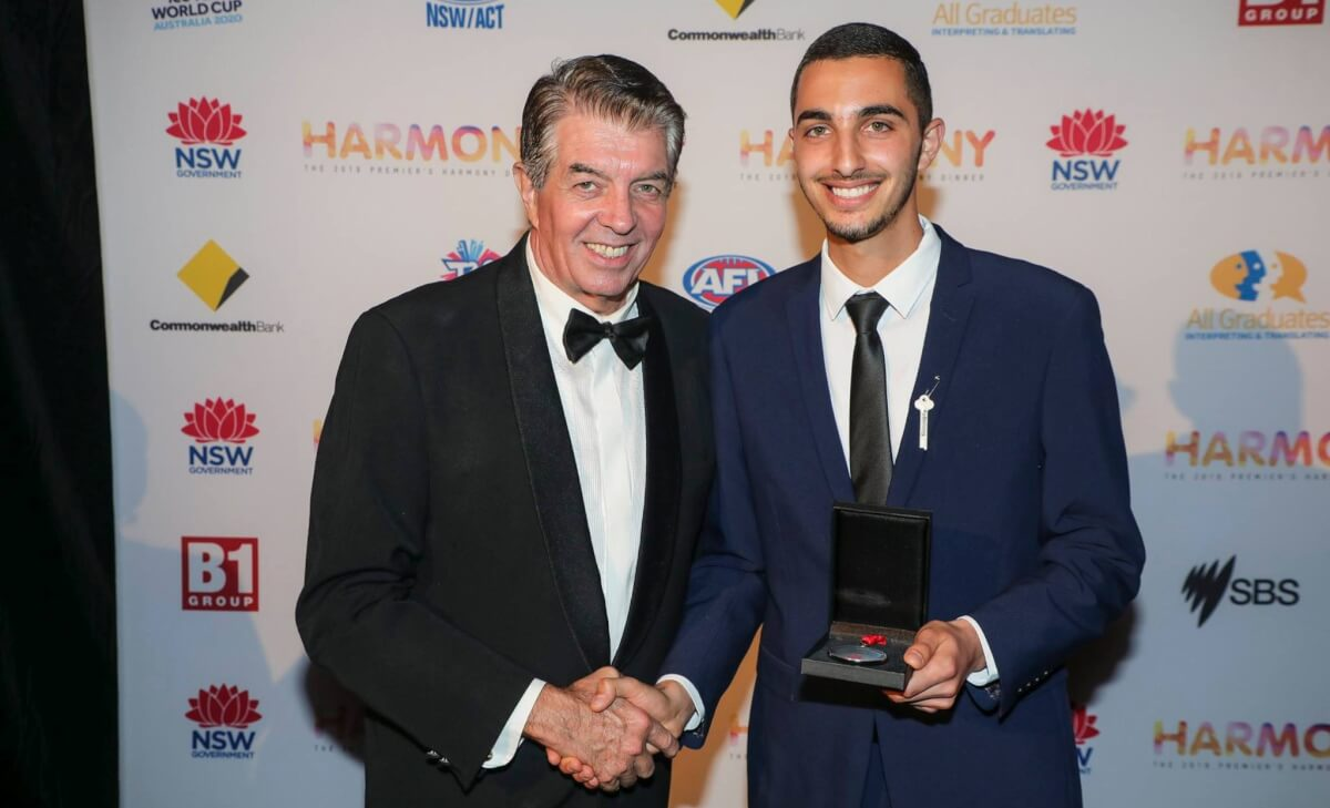 Ibrahim Taha recognised with Youth Medal