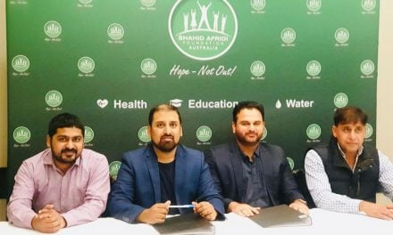 Shahid Afridi Foundation partnership with Sydney Cricket League
