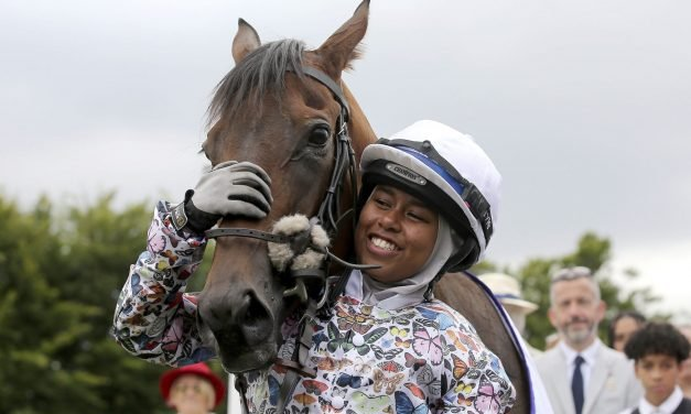 Place a halal bet, she'll succeed: UK's first jockey to race in hijab secures fairytale win