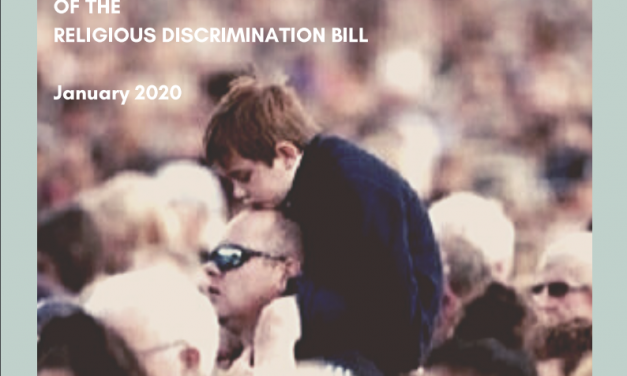 Joint submission on Religious Discrimination Bill