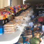 HoS helps families with food hampers