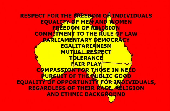 Australian Values under the current federal government