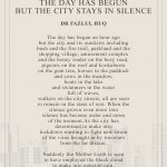 The Day Has Begun But The City Stays In Silence