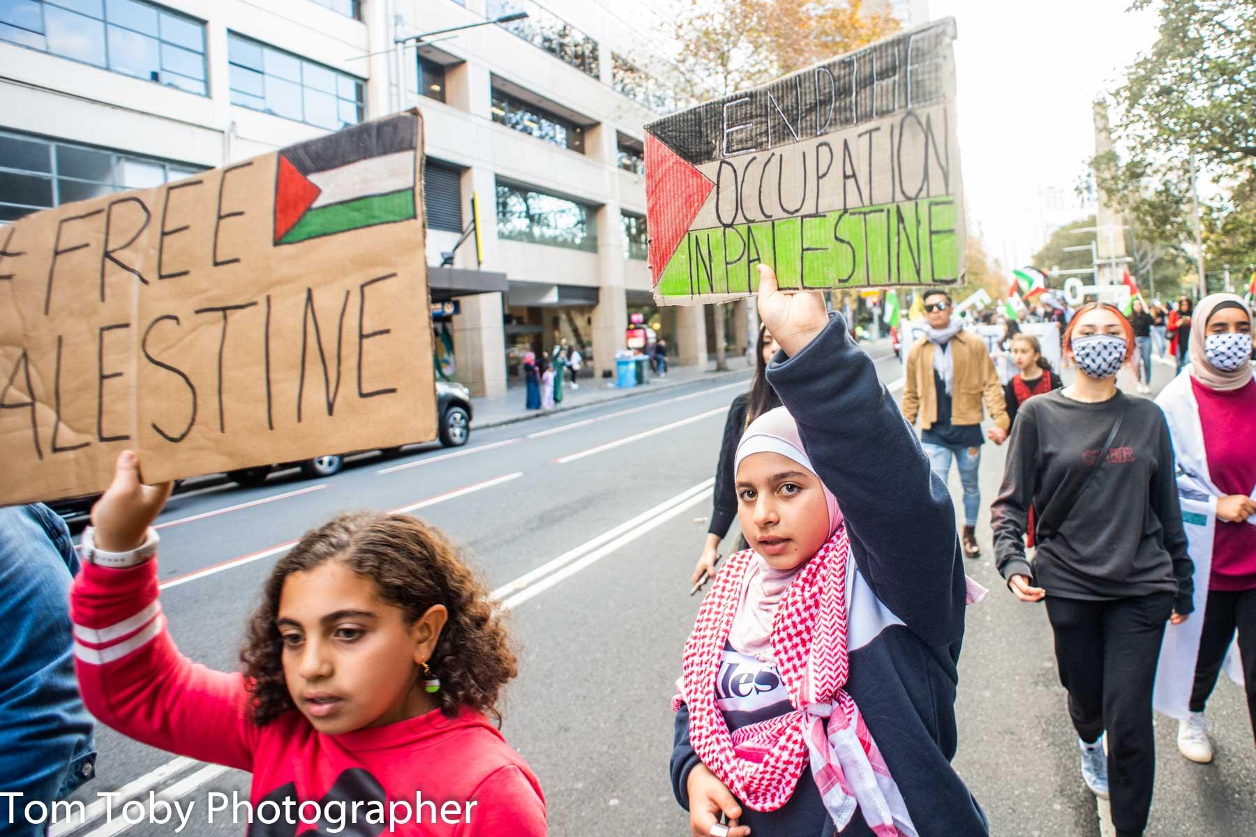Big girl voice in Sydney for Palestine