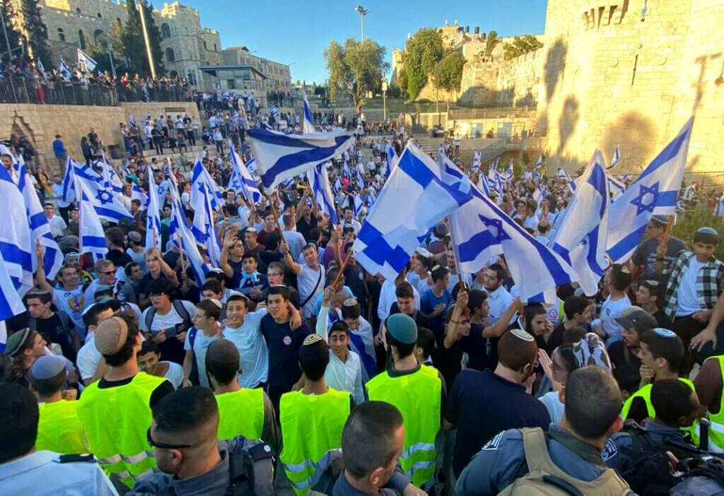 Israeli 'Flag March' features racist chants